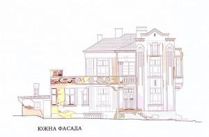 Е. Маринска къща арх. Хр Димов южна фасада