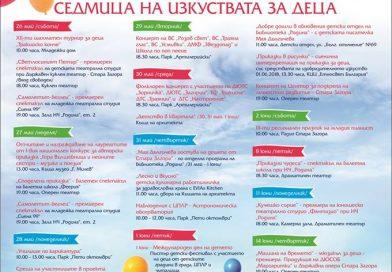 """Седмицата на изкуствата за деца  """"От децата за децата""""  започва на 26 май"""