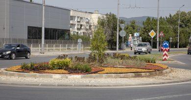 Красива визия доби кръгово кръстовище в Стара Загора
